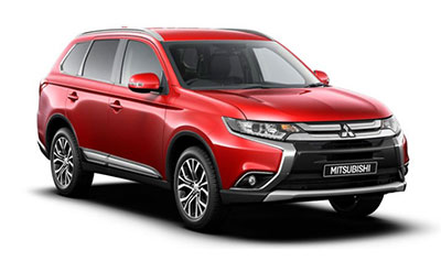 Mitsubishi Outlander - Available in Red Diamond